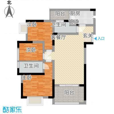 善群・天秀龙湾11.27㎡户型3室2厅1卫