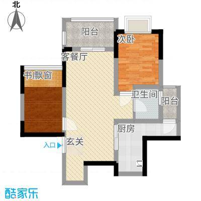 善群・天秀龙湾81.84㎡户型2室2厅1卫