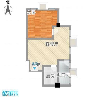 同晖・城市广场66.20㎡一期A户型1室1厅1卫1厨