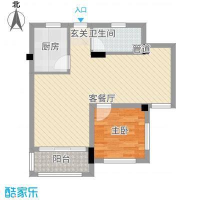 望虞花园65.20㎡户型2室2厅1卫