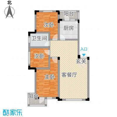 爵士公馆32.12㎡H户型3室2厅1卫1厨