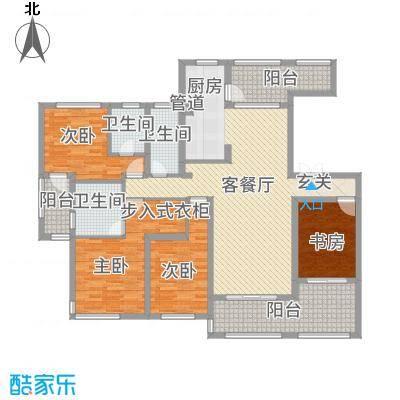 尚城国际184.00㎡C1户型4室2厅3卫1厨