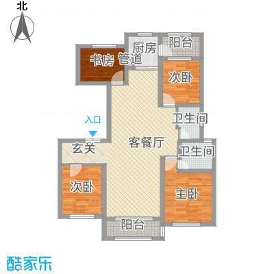 尚城国际135.00㎡B2户型4室2厅2卫1厨