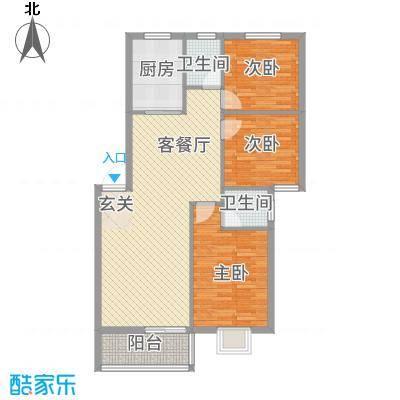 水云间32.62㎡三期D户型3室2厅1卫1厨