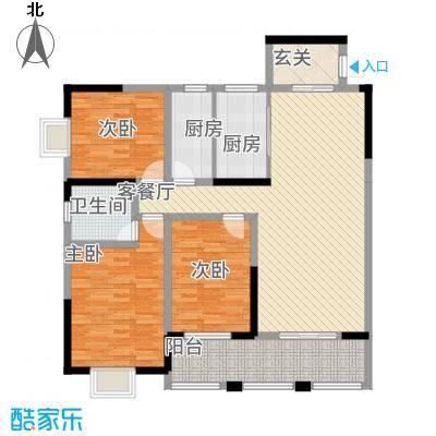 豪景苑51131.82㎡501单张(350x200H)_编辑户型3室2厅2卫1厨
