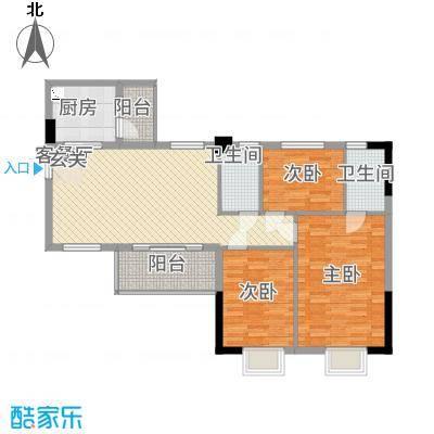 金泰瑞和园17.57㎡A栋一单元05、二单元033室户型3室2厅2卫1厨