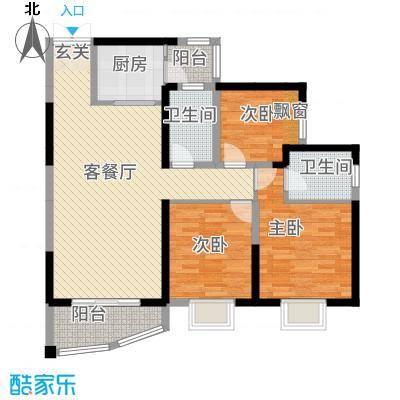中央商务区CBD(南区)11.24㎡中央商务区CBD钻石园3#1单元03053室户型3室2厅2卫1厨