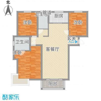 广场君府32131.86㎡B户型3室2厅2卫1厨