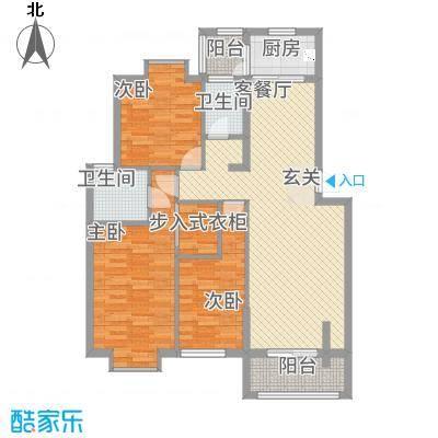 嘉和城132121.33㎡C1户型3室2厅2卫1厨