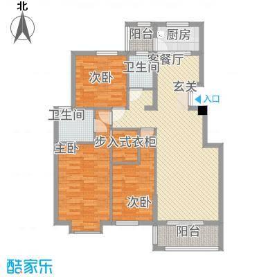 嘉和城23312.37㎡C2-3户型3室2厅2卫1厨