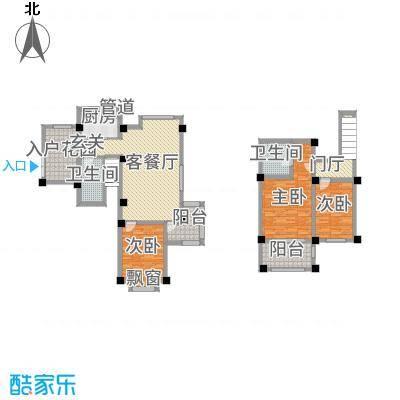 长江国际花园131.51㎡E户型3室2厅2卫1厨
