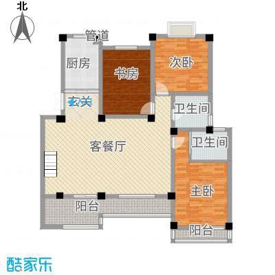 长江国际花园4133.20㎡4F户型3室2厅2卫1厨