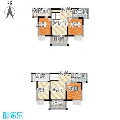 长江国际花园3173.20㎡E3户型3室3厅2卫1厨