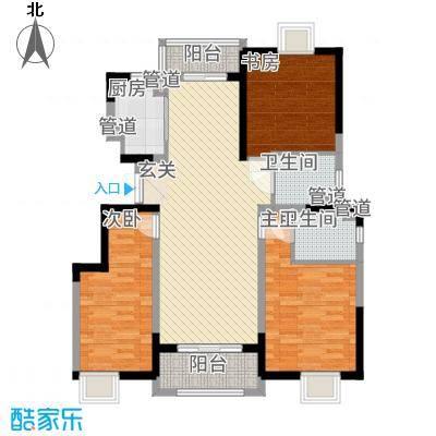 汇景公寓121.43㎡户型