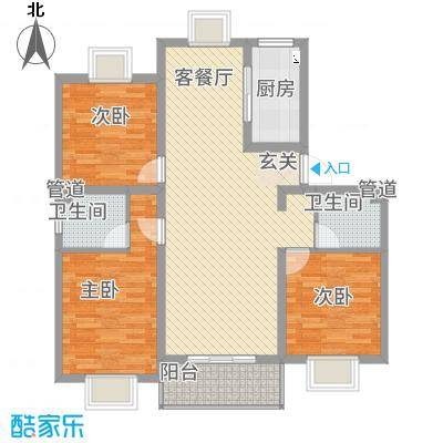 景枫嘉苑114.00㎡户型