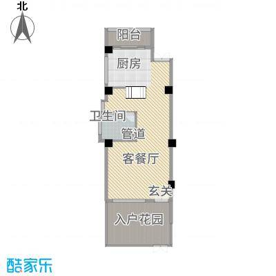 玉水金地・白沙墅C左边一楼平面图户型