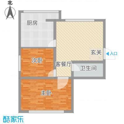 军安小区27.87㎡户型2室2厅1卫1厨