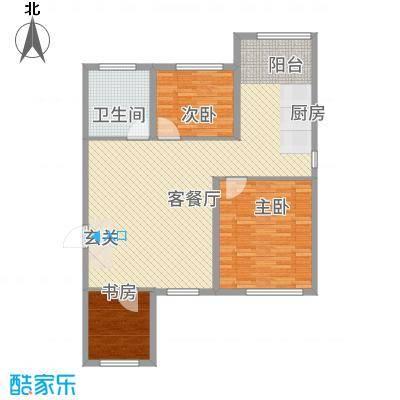 军安小区3122.22㎡户型3室2厅1卫1厨