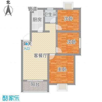 滨江星城7127.37㎡7-9号户型3室2厅1卫