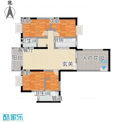 傣泐金湾二期品江苑156.00㎡C户型3室2厅2卫