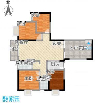 傣泐金湾二期品江苑164.00㎡A户型4室2厅2卫