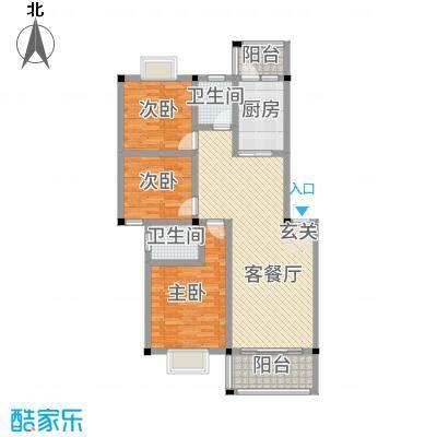祥和新城1232217.25㎡户型3室2厅2卫1厨