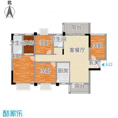祥和新城3522133.00㎡户型5室2厅2卫1厨
