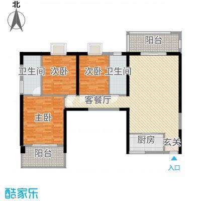 福泰海湾新城1142.20㎡B1户型3室2厅2卫1厨