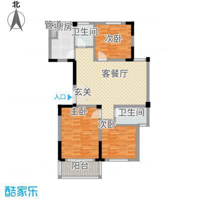 东方花园3116.20㎡D户型3室2厅1卫2厨