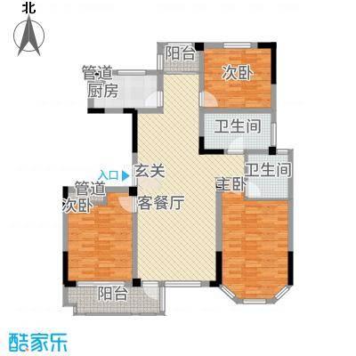 东方花园314.20㎡B户型3室2厅2卫1厨