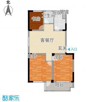 东方花园3117.20㎡A户型3室2厅1卫1厨