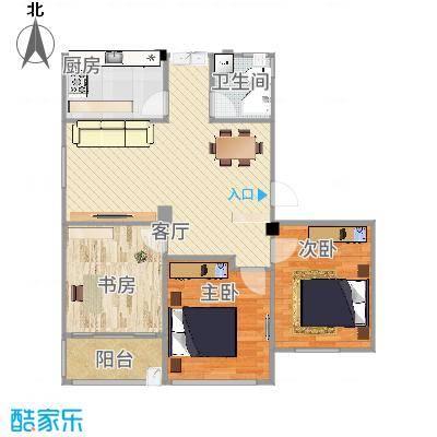 方卫+西厅-考虑柱子-重新设计玄关