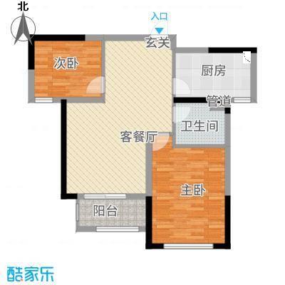 凯旋公馆221.20㎡B户型2室2厅1卫1厨