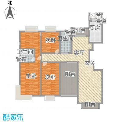 高尔夫湖滨花苑254.68㎡户型