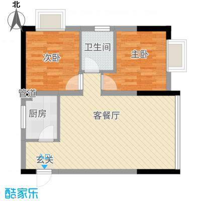 公交集资房78.00㎡户型2室