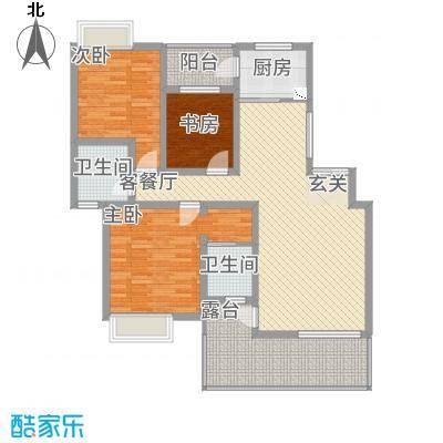 景勐仑・悦城116.45㎡户型3室2厅2卫
