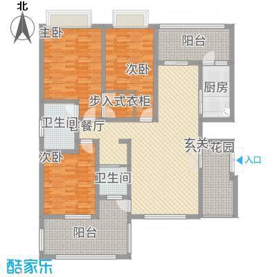 景勐仑・悦城14.43㎡户型3室2厅2卫