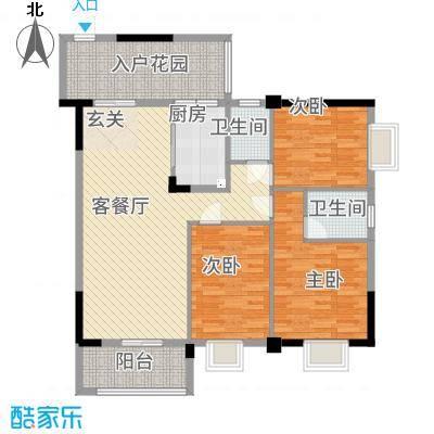 祥和新城322123.19㎡户型3室2厅2卫1厨