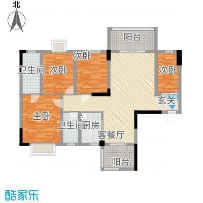 祥和新城11222129.00㎡户型2室2厅2卫1厨