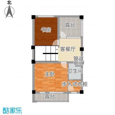 玉水金地・白沙墅B中左三楼平面图户型