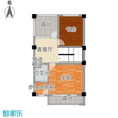 玉水金地・白沙墅B中右三楼平面图户型