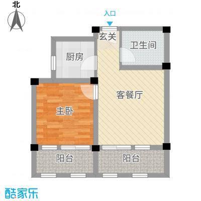 阳光托斯卡纳6.20㎡二期多层C户型1室1厅1卫1厨