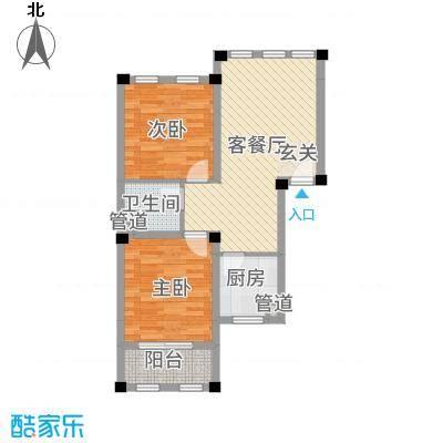 阳光托斯卡纳3.20㎡二期多层G户型2室2厅1卫1厨