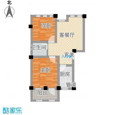 阳光托斯卡纳85.20㎡二期多层D户型2室1厅1卫1厨