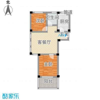 阳光托斯卡纳62.32㎡二期多层A户型2室1厅1卫1厨