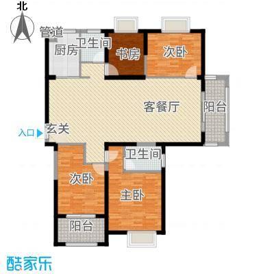宏基天城72166.20㎡7#东户G2户型2室2厅2卫1厨