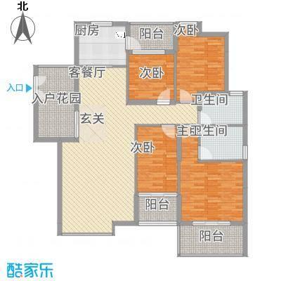 浅水湾・中央公园143.55㎡D户型4室2厅2卫