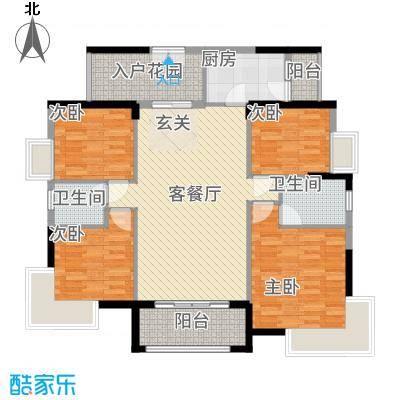 和合国际城二期2146.16㎡2D户型4室2厅2卫1厨
