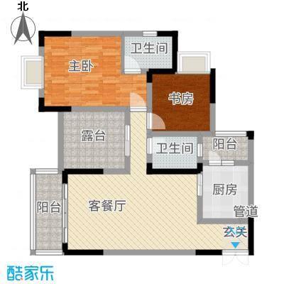 昌龙阳光尚城8.20㎡一期8幢标准层8-1户型