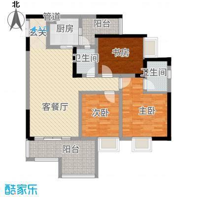 昌龙阳光尚城8.20㎡一期8幢标准层8-5户型